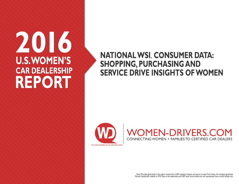 2016 US Women's Car Dealership Report