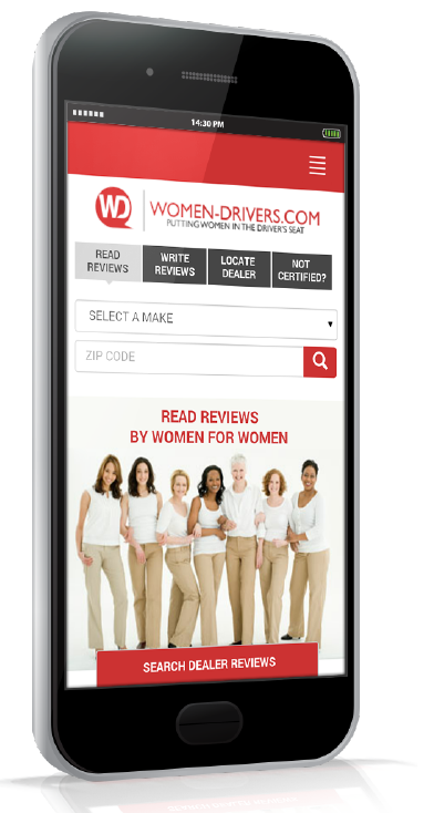 Women Drivers Mobile Homepage
